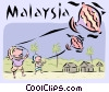 Vector Clipart graphic  of a Malaysia