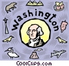 Vector Clip Art image  of a Washington