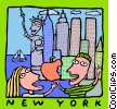 Vector Clip Art graphic  of a New York