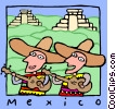 Vector Clipart picture  of a Mexico