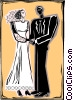 Bride and groom, wedding Vector Clip Art image