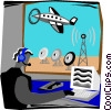 air traffic controller Vector Clipart graphic