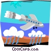 Vector Clip Art image  of an airplane