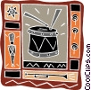 Vector Clip Art graphic  of a music drum