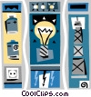 light bulb, electricity, power supply Vector Clipart illustration