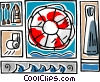 Vector Clip Art picture  of a beach life