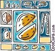 Vector Clipart graphic  of a nuts