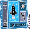 Vector Clip Art graphic  of a space craft
