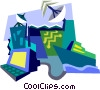 Vector Clip Art graphic  of a navigational communications