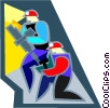 Vector Clip Art graphic  of a construction