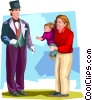 Vector Clipart graphic  of a family