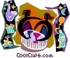 party music, stars, wine and gifts Vector Clipart image