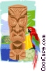 Vector Clip Art picture  of a totem pole