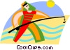 Vector Clipart image  of a man fishing