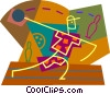 Person bowling Vector Clipart picture