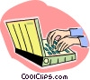 lap top Vector Clipart illustration