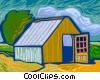 Vector Clipart graphic  of a barn