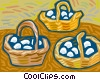 Vector Clipart illustration  of a basket of eggs