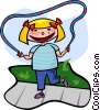 skipping rope Vector Clipart image