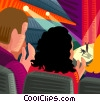 Couple at the opera Vector Clipart picture