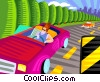 Vector Clipart illustration  of a driving