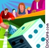 craps, dice, gambling Vector Clipart illustration