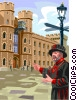 Vector Clipart graphic  of a crown jewel tower