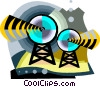 satellites Vector Clip Art graphic