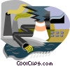 industry, smoke stacks, pollution Vector Clip Art graphic