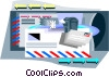 Vector Clip Art image  of a post office