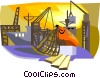 ship yard Vector Clip Art picture