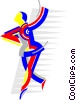 figure skater Vector Clipart illustration
