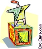 standing on top of box Vector Clipart image