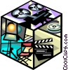 Vector Clip Art graphic  of a movies