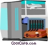 Vector Clip Art graphic  of a baggage return area