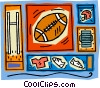 Vector Clipart image  of a football with helmet