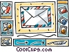 Vector Clipart illustration  of a postage letter
