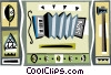 accordion motif Vector Clipart image