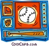 Vector Clipart graphic  of a baseball diamond