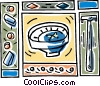 Vector Clipart illustration  of a shaving with razors ink