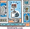 Vector Clipart graphic  of a camping propane light