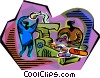 making medicine Vector Clip Art picture