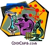 chemistry experiment Vector Clipart picture