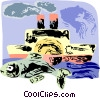 Vector Clip Art graphic  of a ships