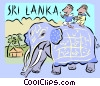 sri lanka Vector Clip Art picture