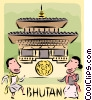 Vector Clipart graphic  of a Bhutan