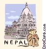 Vector Clipart picture  of a Nepal