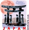 Vector Clipart graphic  of a Japan