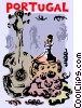 Vector Clipart graphic  of a Portuguese wine with a guitar