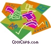 Vector Clip Art picture  of a data entry